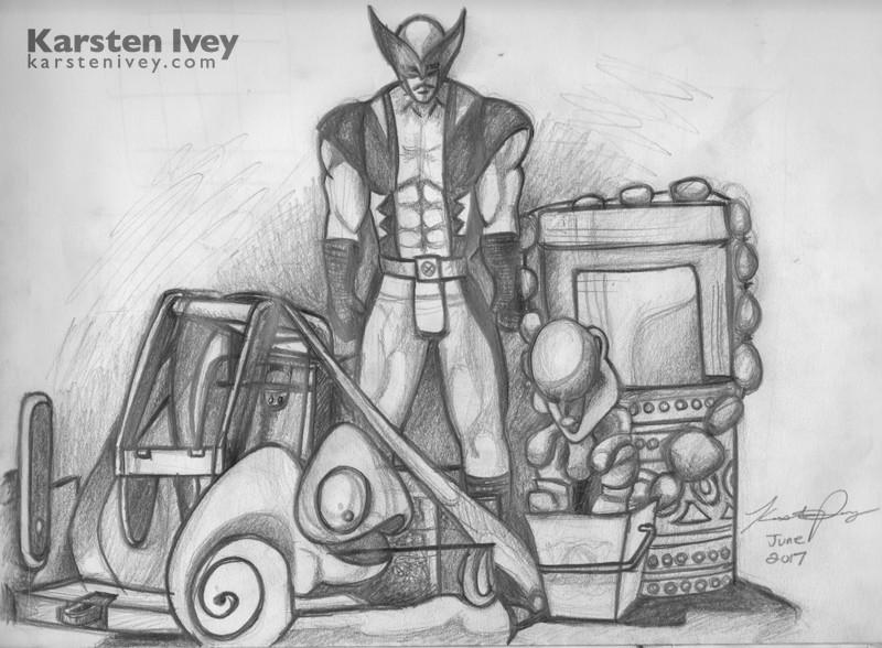 Pencil Drawings Wolverine Marvel Still Life Sketch Karsten Ivey